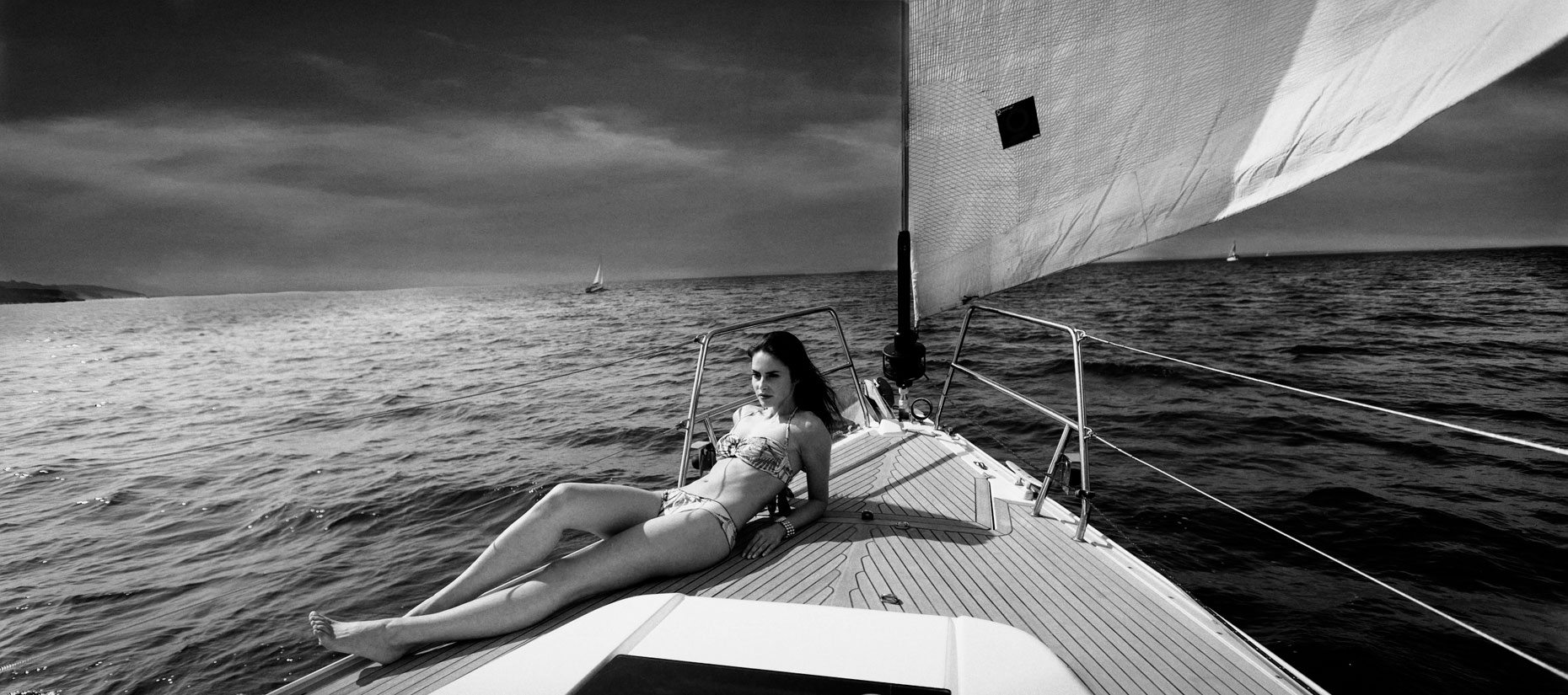 mila bernote,swimwear,bikini,beauty,fashion photography,sailboat,black and white,bill heuberger,william heuberger_20140731_118-2_SG_MASTER-copy