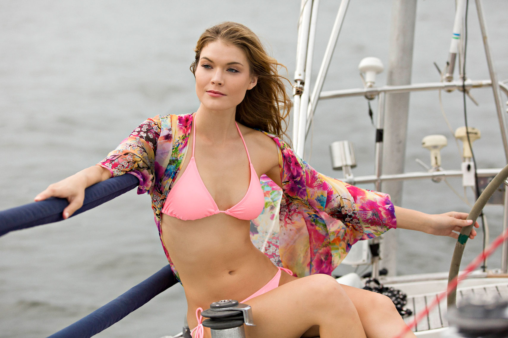 Samantha Drew,swimwear,bikini,sailboat,william heuberger fashion photographer